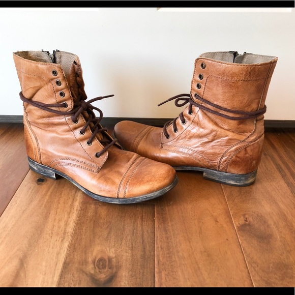 2a10eeec4eb Steven Madden Troopah Combat Leather Boots Mens 11